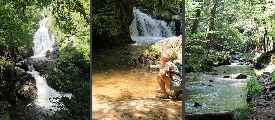Randonnee cascade Murel correze