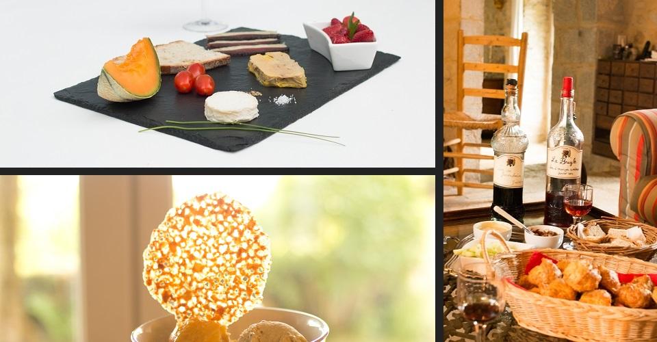 table d'hôtes ardoise gourmande apéritif richesse gastronomique du Lot produits du terroir