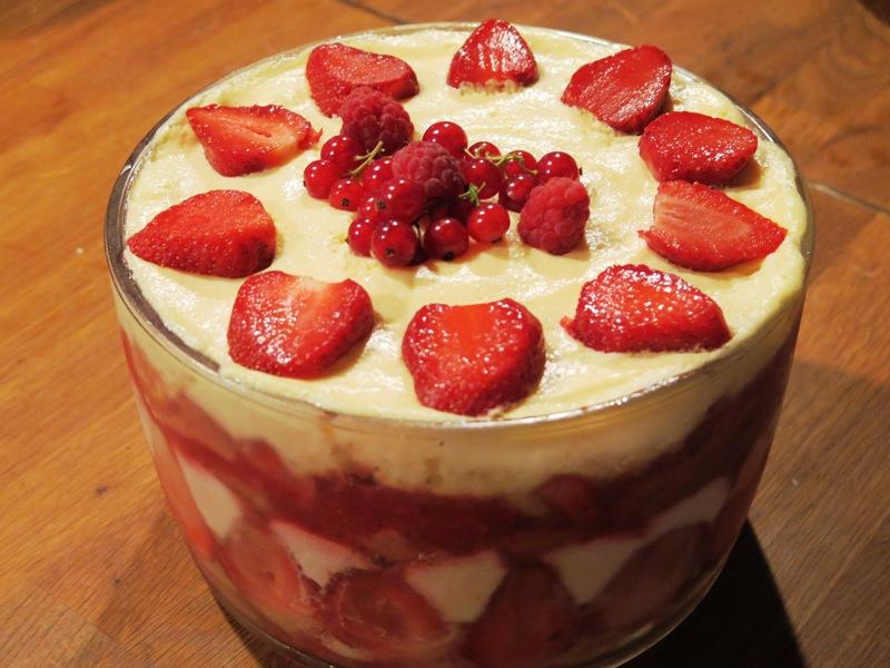 Dessert tiramisu à la fraise