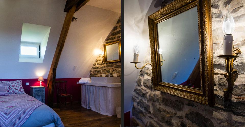 Chambre d'hôtes mansardée cosy et chaleureuse.