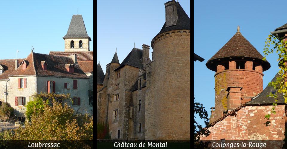 Plus beaux villages de france loubressac château de montal collonges-la-rouge
