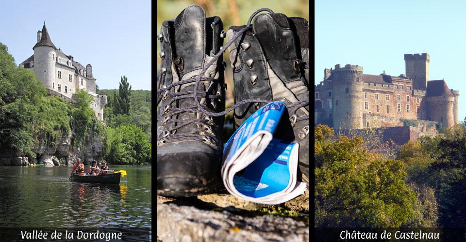 canoé-kayak en vallée de la dordogne - randonnée - chateau de castelnau bretenoux