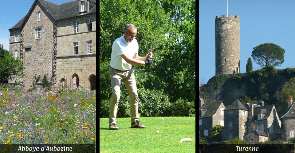 Monastère d'aubazine et canal des moines - golfs de Souillac, Aubazine, Brive, Montal - Turenne