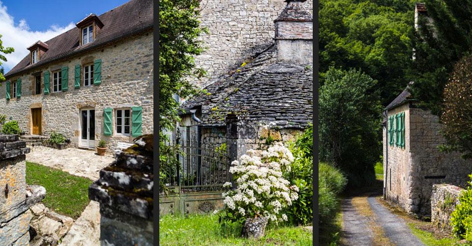 maison pierres bleutées authentique